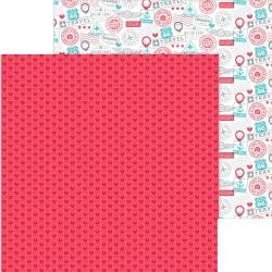 Doodlebug I Heart Travel Double-Sided Cardstock 12X12 Love This
