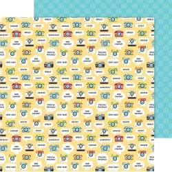 Doodlebug I Heart Travel Double-Sided Cardstock 12X12 Picture This