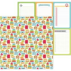 Doodlebug I Heart Travel Double-Sided Cardstock 12X12 Vacation Time