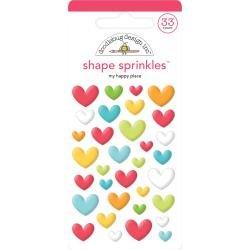 Doodlebug Sprinkles Adhesive Glossy Enamel Shapes My Happy Place, I Heart Travel