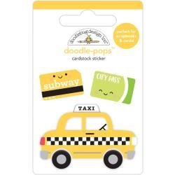 Doodlebug Doodle-Pops 3D Stickers Taxi!, I Heart Travel