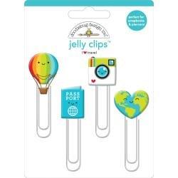 Doodlebug Jelly Clips 4/Pkg I Heart Travel