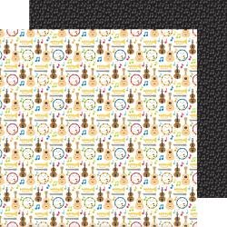 Doodlebug School Days Double-Sided Cardstock 12X12 Band Class