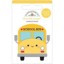 Doodlebug Doodle-Pops 3D Stickers School Bus, School Days