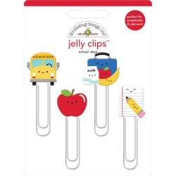 Doodlebug Jelly Clips 4/Pkg School Days