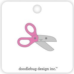 Doodlebug Collectible Enamel Pin Pink Scissors