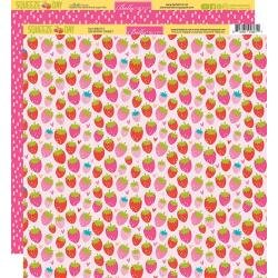 Bella Blvd. Squeeze The Day Double-Sided Cardstock 12X12 So Berry Sweet
