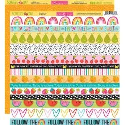 Bella Blvd. Squeeze The Day Double-Sided Cardstock 12X12 Borders