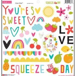 Bella Blvd Chipboard Stickers 12X12 Squeeze The Day