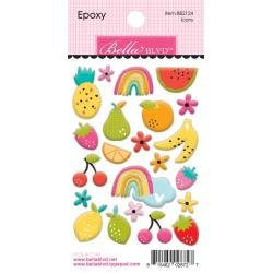 Bella Blvd Squeeze The Day Epoxy Stickers Icons