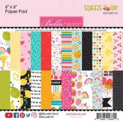 Bella Blvd Double-Sided Paper Pad 6X6 24/Pkg Squeeze The Day