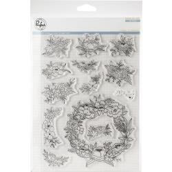 Pinkfresh Studio Clear Stamp Set 6X8 Floral Elements
