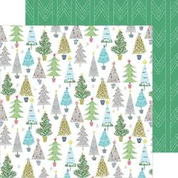 PinkFresh Home For The Holidays Double-Sided Cardstock 12X12 Merry & Bright