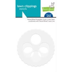 Lawn Clippings Stencils Reveal Wheel: Circle