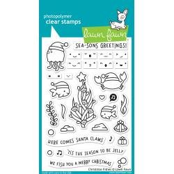 Lawn Fawn Clear Stamps 4X6 Christmas Fishes