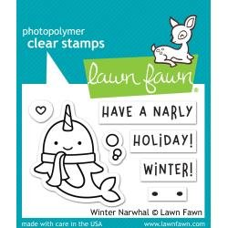 Lawn Fawn Clear Stamps 3X2 Winter Narwhal