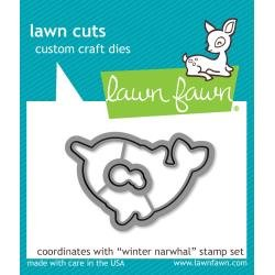 Lawn Cuts Custom Craft Die Winter Narwhal