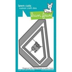Lawn Cuts Custom Craft Die Diagonal Gift Card Pocket