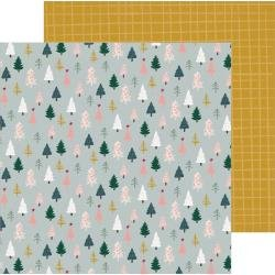 Crate Paper Snowflake Double-Sided Cardstock 12X12 Spruce