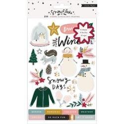 Crate Paper Snowflake Sticker Book 250/Pkg W/Copper Foil Accents