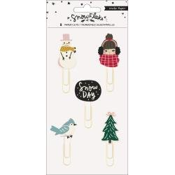 Crate Paper Snowflake Decorative Clips 5/Pkg