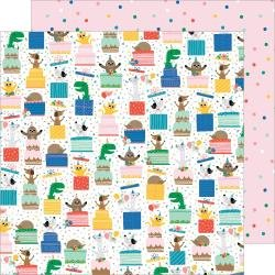 Pebbles Happy Cake Day Double-Sided Cardstock 12X12 Surprise
