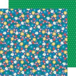 Pebbles Happy Cake Day Double-Sided Cardstock 12X12 Birthday Blossoms