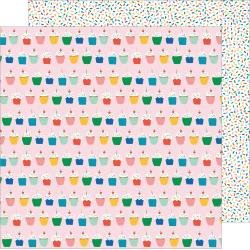 Pebbles Happy Cake Day Double-Sided Cardstock 12X12 Hey Cupcake
