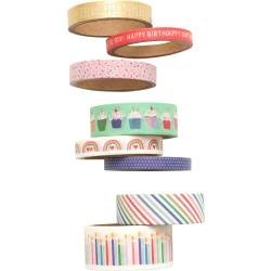 Pebbles Happy Cake Day Washi Tape 8/Pkg