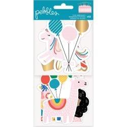 Pebbles Happy Cake Day Ephemera Cardstock Die-Cuts 40/Pkg Icons W/Foil Accents