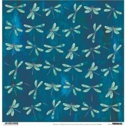 Alexandra Renke Wildness Of Nature Design Paper 12X12 Autumn Dragonflies