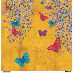 Alexandra Renke Wildness Of Nature Design Paper 12X12 Autumn Butterflies