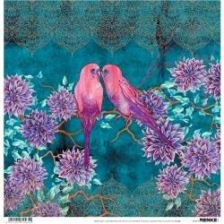 Alexandra Renke Wildness Of Nature Design Paper 12X12 Autumn Budgie Dhalie