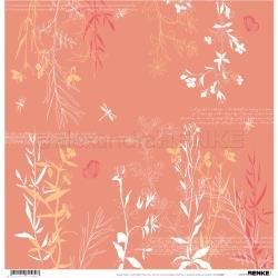 Alexandra Renke Wildness Of Nature Design Paper 12X12 Autumn Plants Coral
