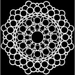 Crafter's Workshop Template 12X12 Orb Mandala