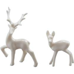IDEA-OLOGY Resin Decorative Deer 12/Pkg White .5X1.25 & .75X1.5