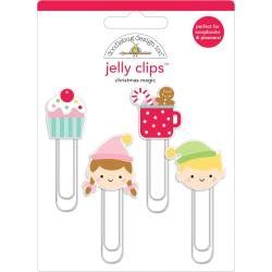 Doodlebug Jelly Clips 4/Pkg Christmas Magic