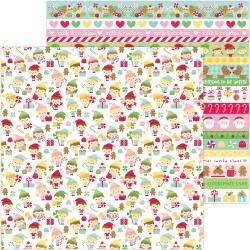Doodlebug Christmas Magic Double-Sided Cardstock 12X12 Little Helpers