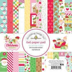 Doodlebug Double-Sided Paper Pad 6X6 24/Pkg Christmas Magic