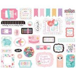 Echo Park Cardstock Ephemera 33/Pkg Icons, It's Your Birthday Girl