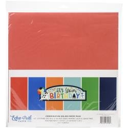 Echo Park Double-Sided Solid Cardstock 12X12 6/Pkg It's Your Birthday Boy