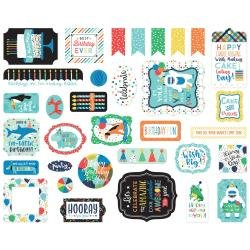 Echo Park Cardstock Ephemera 33/Pkg Icons, It's Your Birthday Boy
