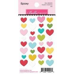 Bella Blvd Santa Squad Epoxy Stickers Hearts Christmas Mix