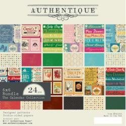 Authentique Double-Sided Cardstock Pad 6X6 24/Pkg Calendar Collection