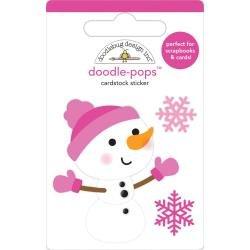 Doodlebug Doodle-Pops 3D Stickers Crystal, Winter Wonderland