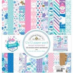 Doodlebug Double-Sided Paper Pack 12X12 12/Pkg Winter Wonderland