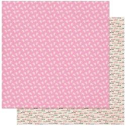 Authentique Love Notes Double-Sided Cardstock 12X12 #3 Pink & White Small Cupids