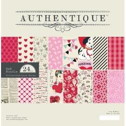 Authentique Double-Sided Cardstock Pad 8X8 24/Pkg Love Notes