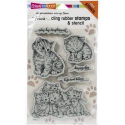 Stampendous Cling Stamp Kitten Hugs