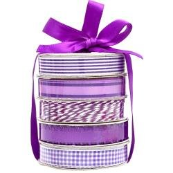 American Crafts Premium Ribbon & Twine 5/Pkg Purple
